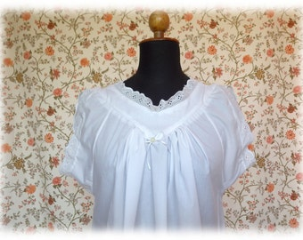 Backfisch # 2 plain - victorian chemise shirt Undershirt for a corset for bustle gown nightgown