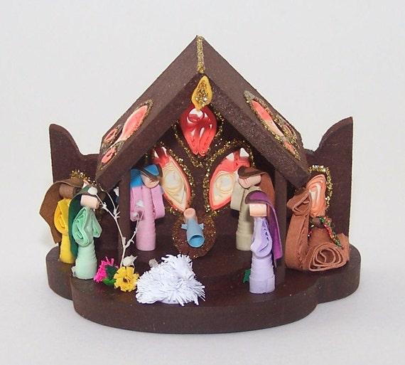Nativity Set , Nativity Scene , Paper Quill Nativity , Paper Quilling ...