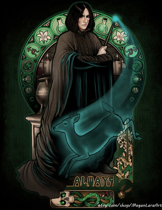 Always Severus Snape Signed Art Print by Megan Lara | Harry Potter Gift Guide