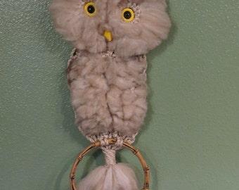 Three Macrame Owls