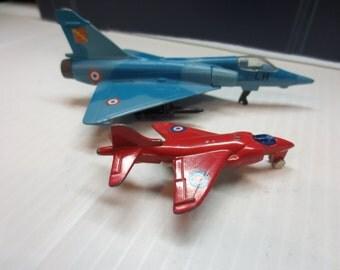Vintage Diecast Mirage 2000C Jet With A Smaller Wannabe Mirage Jet