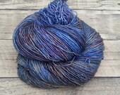 Northern Lights - Hand Dyed Yarn - Superwash Merino Wool Silk