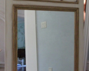 Trumeau Mirror with French Trumeau Design Wreaths