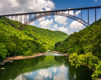 The New River Gorge Bridge, at New River Gorge National River, West Virginia - Nature Photography Fine Art Print or Wrapped Canvas