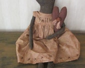Primitive Black Doll with Heart