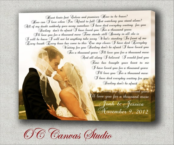 Wedding Song For Bridal Party: Items Similar To First Dance Custom Canvas Print. Wedding