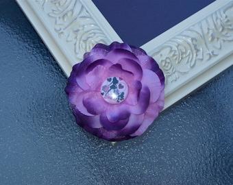 Barbie Peony Flower Hair Clip in Purple