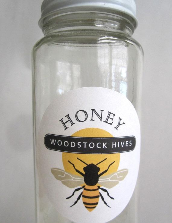 Honey Jar Labels Bee Stickers Gift for Beekeeper Honey