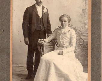 Antique Photo of Lovely Young Couple