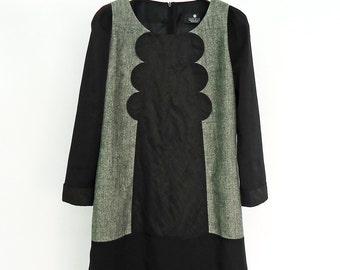 Cozy Tweed  Dress, Black Dress