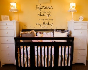 Items similar to Wall Lettering I'll Love You Forever I'll Like ...
