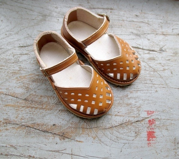 French Vintage 50 S Kids Shoes Sandal Shoes
