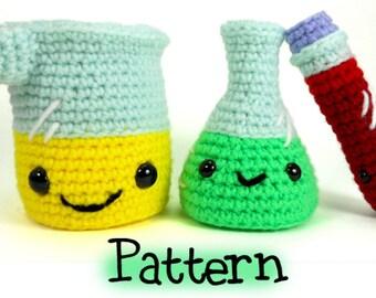 Laboratory Set Crochet Amigurumi Pattern