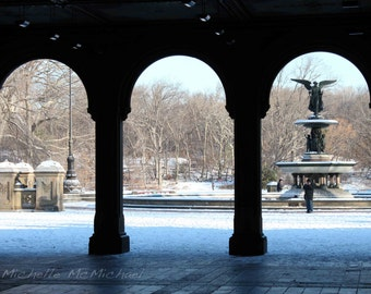 Central Park Photography, New York, 8x12 Fine Art Print, home decor, Under the Arches of Bethesda Terrace, Winter photography