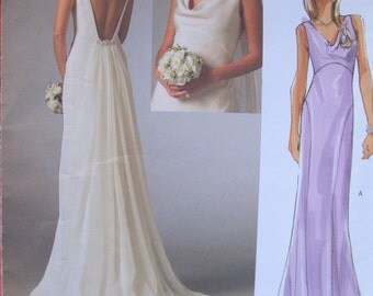 Vogue Wedding Dress, Bridesmaids Dress, Vogue 2965 Original Sizes 4-8