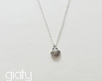 Seashell Necklace - Small Necklace, Everyday Necklace, Wedding Necklace, Simple Necklace, Bestfriend Necklace, Dainty Necklace,