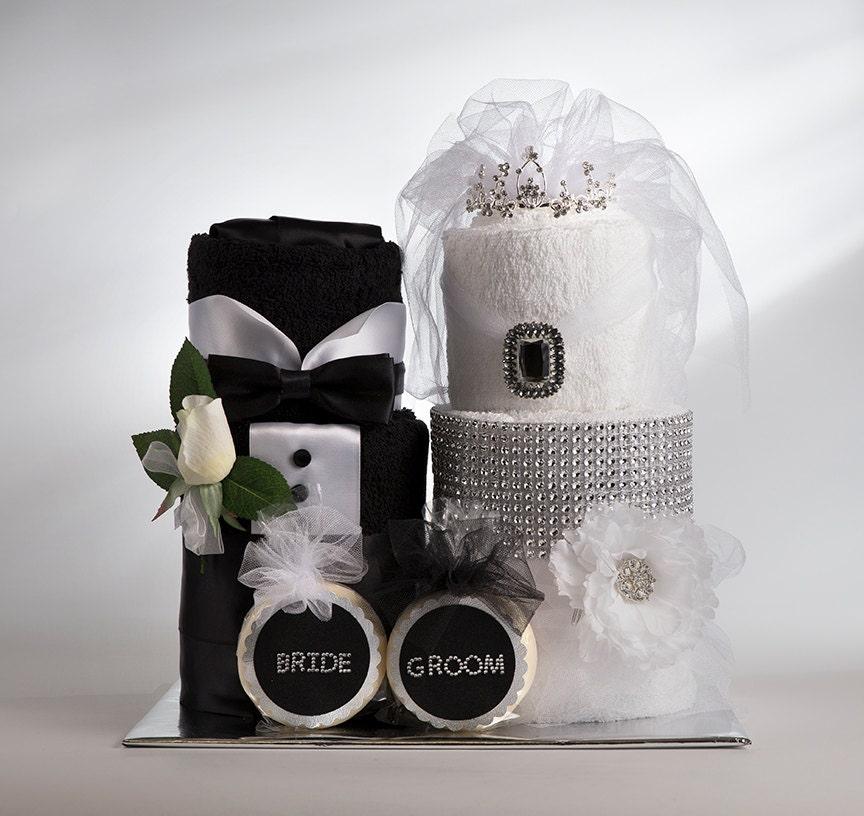 Towel Cake Bride And Groom Towel Cake Bridal Shower