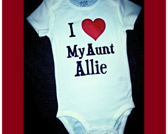 Aunt Auntie I Love My Aunt Baby Clothes Baby One Piece