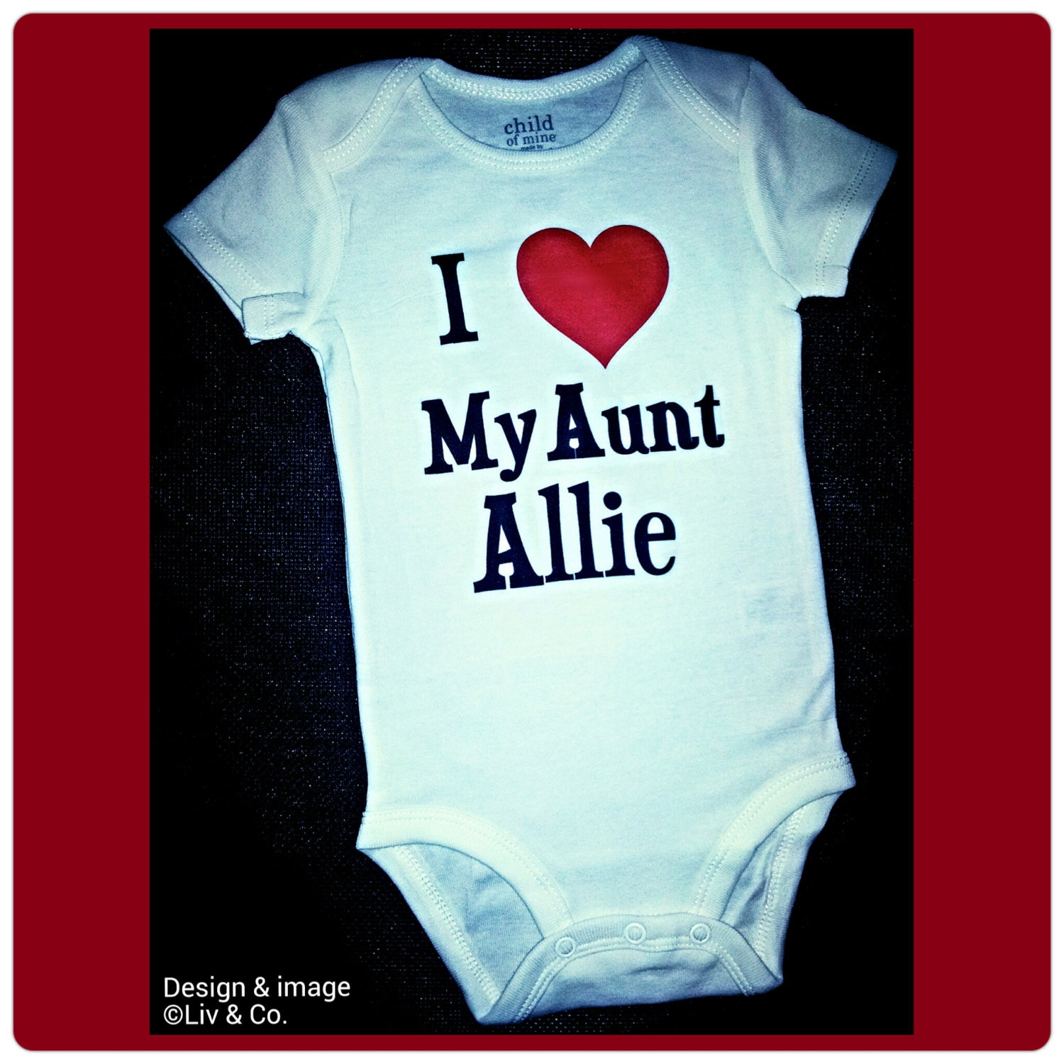 I love my aunt or auntie baby clothes baby one piece baby
