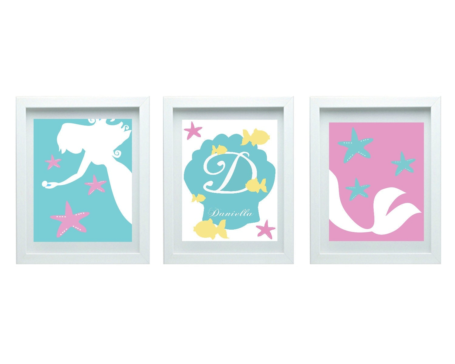 Art For Girls Mermaid Decor Girls Bedroom Decor Baby Bathroom