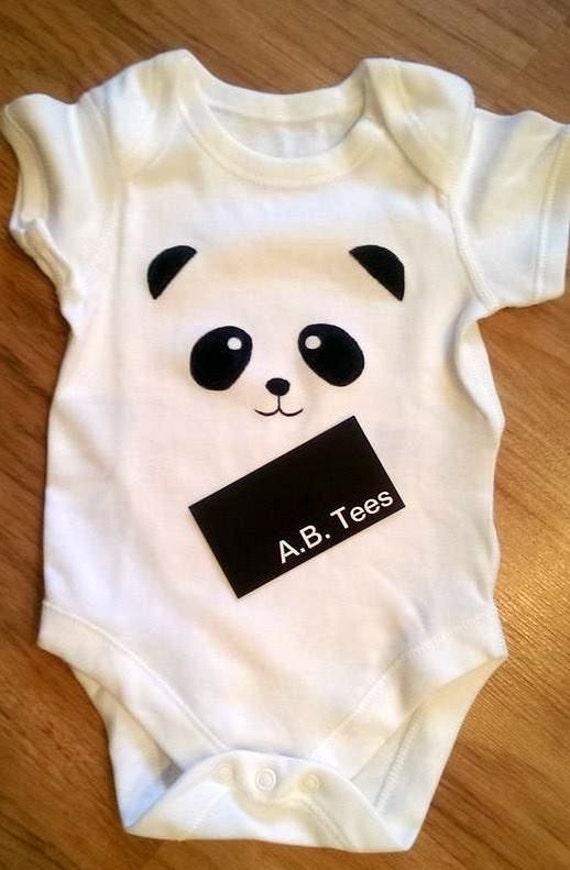 Items Similar To Panda Bear Baby Bodysuit Baby Shower