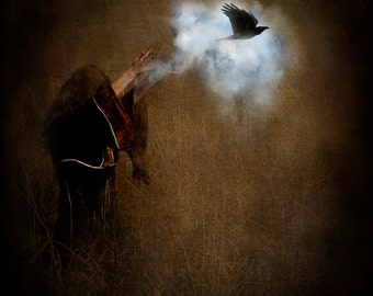 Flight of the Spirit - LIMITED EDITION, Matted Print, Surreal, Whimsical, Fine Art Photography