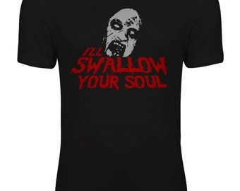 Evil Dead 2 - Bruce Campbell I'll Swallow your Soul Deadite Quote Womens T-shirt
