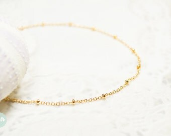 Satellite gold chain, ball chain bracelet, gold bracelet, chain bracelet, gold chain bracelet, cute bracelet, friendship bracelet gold chain
