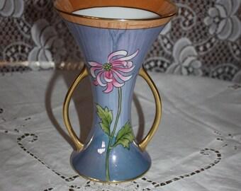 Vintage Noritake Lusterware Hand Painted Vase