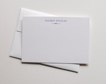 Custom Letterpress Stationery - set of 50