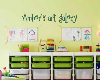 Personalized art gallery wall decal - kids playroom decal - art gallery Wall Decal - Childrens Playroom Wall Decals - wall vinyls decals art