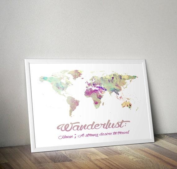 Pastell wanderlust kunstdruck poster kinderzimmer von partyinked