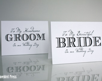 Wedding Card to Groom and Bride - Printable Card Set - On Wedding day - Printable Wedding Card - Instant Download - AA1
