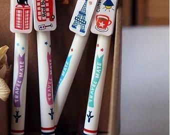 Cute travel London Paris korean pen