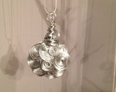 """One of a kind wire wrapped necklace pendant on 16"""" chain"""