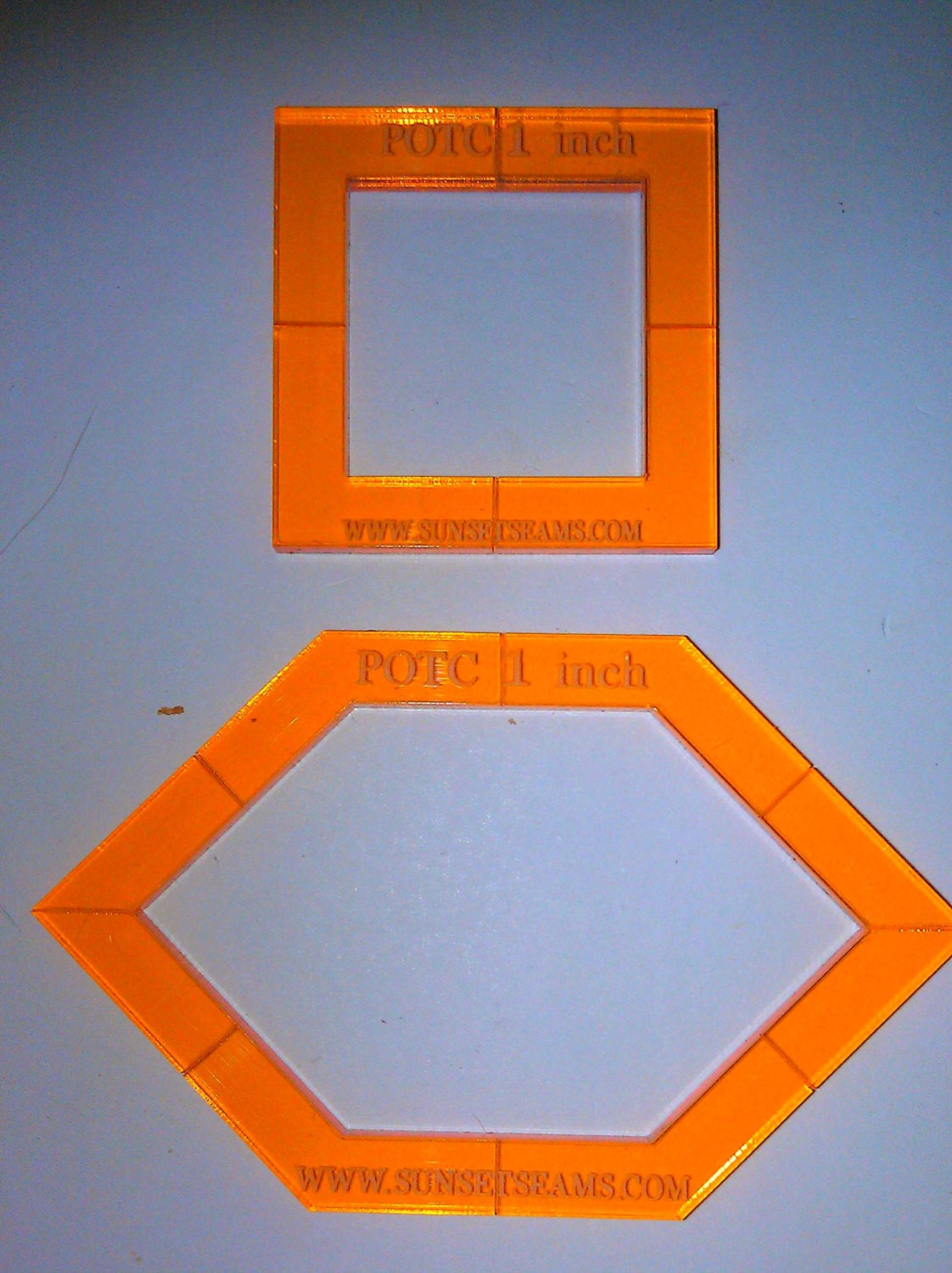 How To Use Acrylic Quilting Templates : POTC 1 inch edge 1/4 inch OR 3/8 inch seam WINDOW style