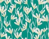 Jungle Avenue Greenhouse Lane by Sara Lawson Art Gallery Fabric - AGF Limited - JAV 723 Teal Priced by the 1/2 Yard