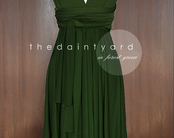 Popular items for forest green on etsy for Forest green wedding dress