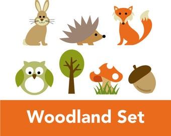 Woodland Appliqué PDF Pattern Set