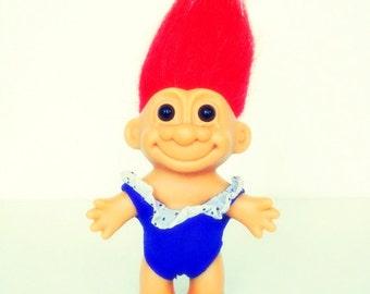 Vintage Russ Blue Swimsuit Troll