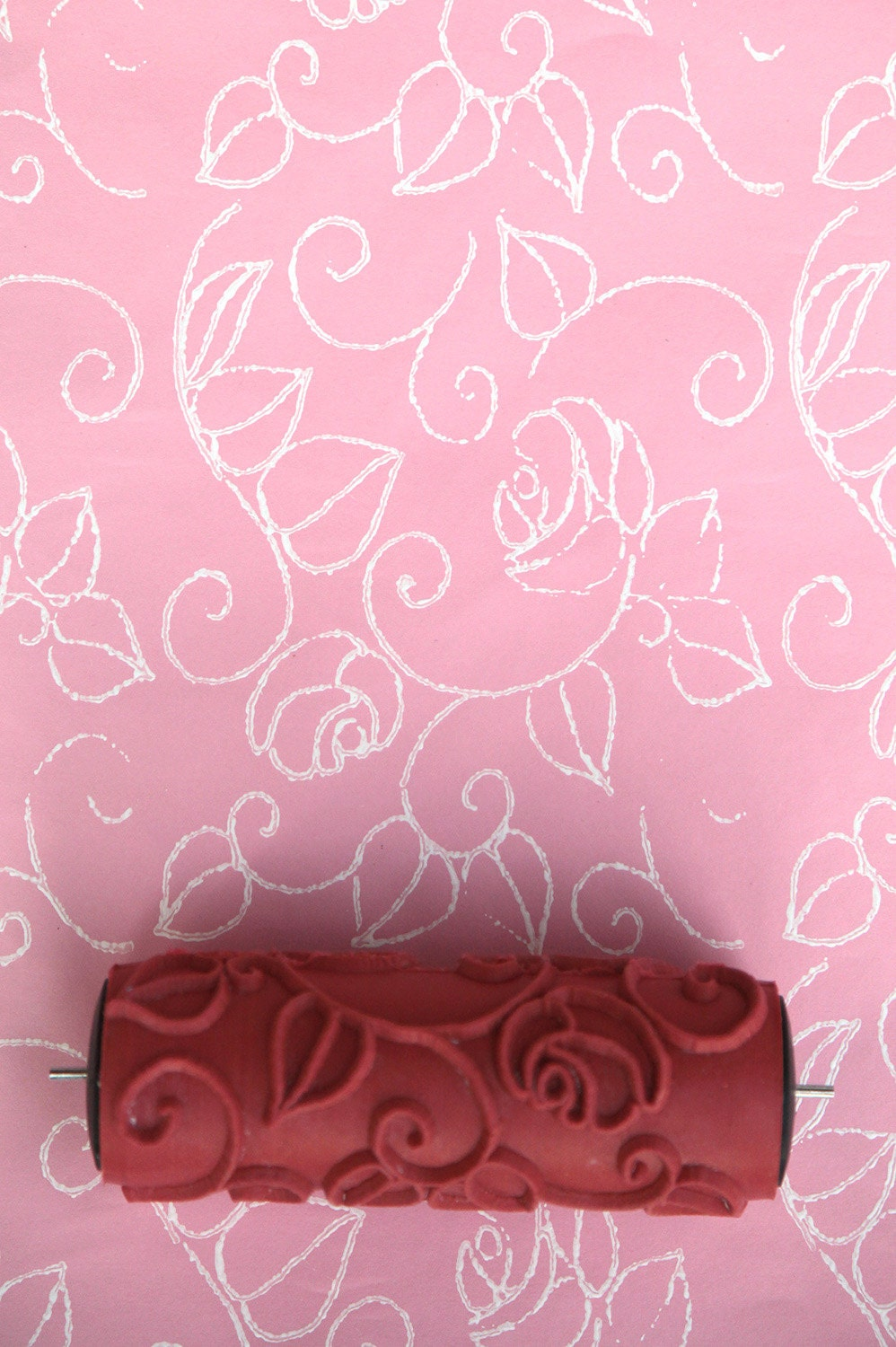 Patterned paint roller for home decor no 1 by haubenart on etsy for Paint roller designs home depot