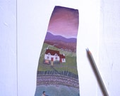 Signed, titled and numbered fine art print of 'Un dydd ar y tro' - from an original artwork by Valériane Leblond