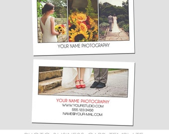 Photography Business Card Template - Simple - Easy to Use - Market Seniors - Families - Large Photo Back - Easy to read - Modern - Bold
