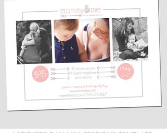 INSTANT DOWNLOAD - Mother's Day Mini Session Photography Template - Mommy & Me Marketing Template - Simple + Sweet - Easy to Use