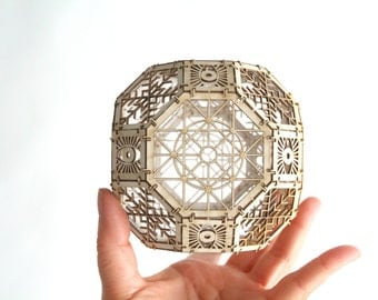 Great Rhombicuboctahedron Model Kit, 3D Laser Cut Sacred Geometry Model, Architectural Design