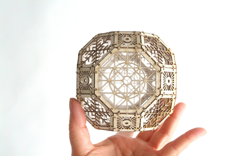 Great rhombicuboctahedron model kit 3d laser cut sacred for Design ornaments