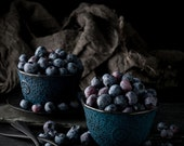 Blueberries Still Life, Food Photography, Large Wall Art, Photo Print, Kitchen Decor, Home Decor, Dining Room Decor, Fruit Photography