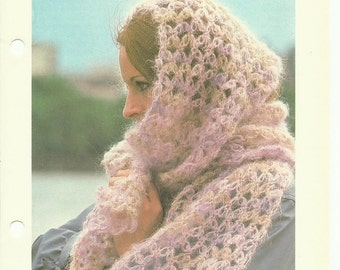 Beautiful mohair scarf beginners crochet pattern digital download