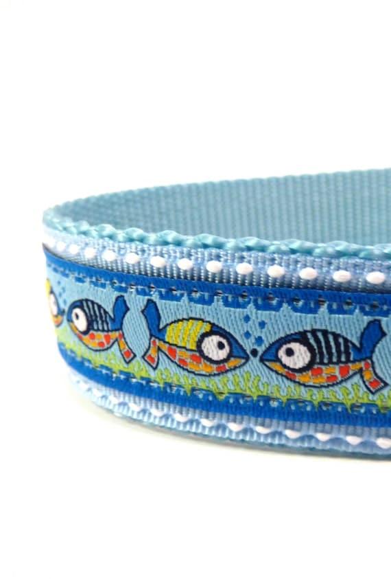 Fish dog collar adjustable dog collar ribbon dog collar for Fish dog collar