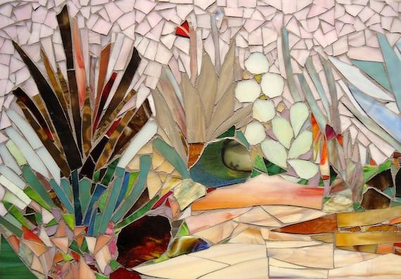 Cactus Garden Mosaic Art Made To Order By Paradisemosaics On Etsy